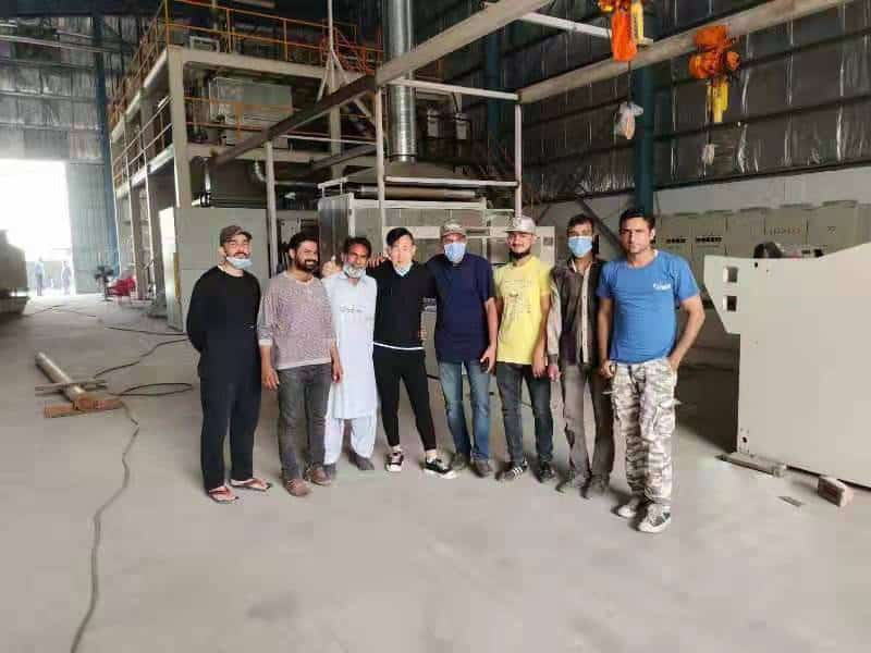 non woven production line engineers